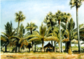 painting of bhanus farm in india.